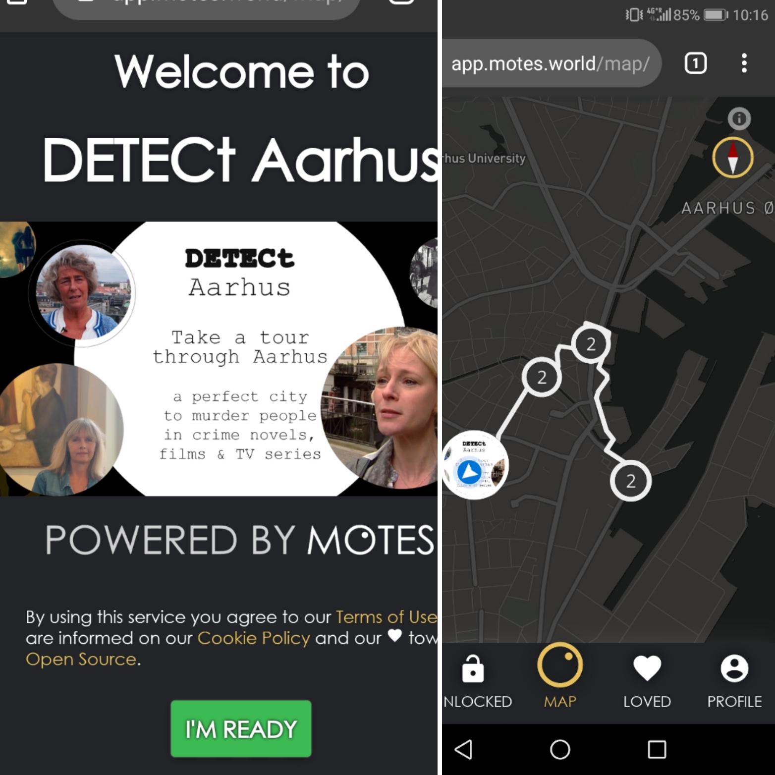 Testing the trial version of the DETECt web-app in Aarhus