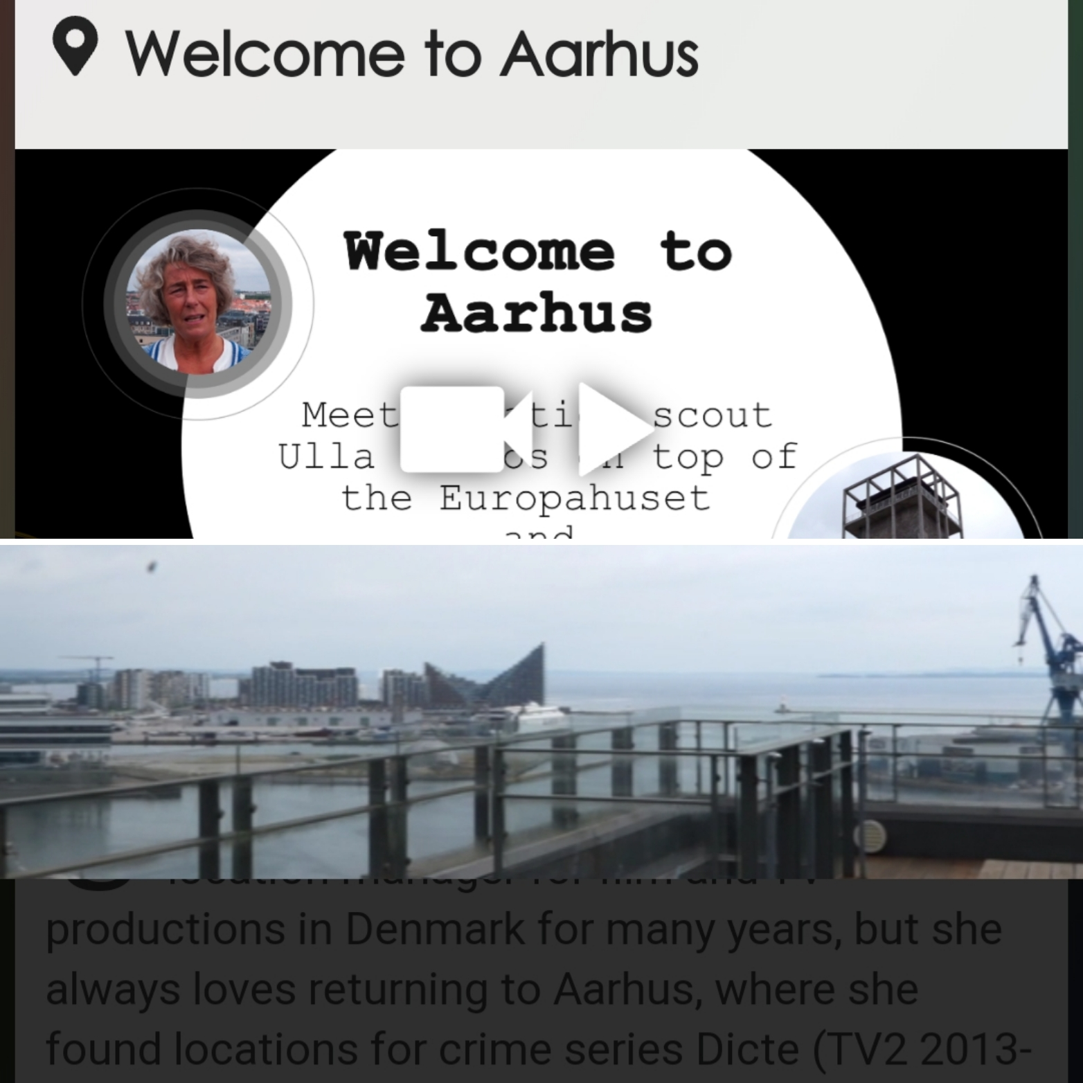 Testing the trial version of the DETECt web-app in Aarhus